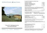 Preise und Geschäftsbedingungen 2013 ... - Kloster Baldegg