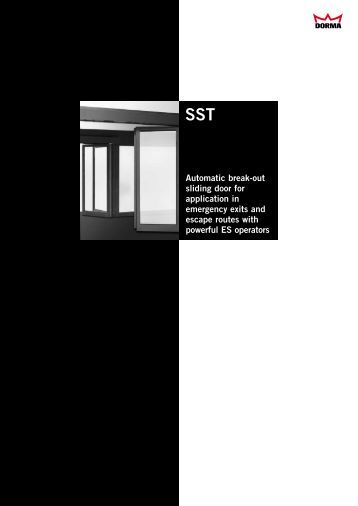 Automatic break-out sliding door for application in emergency exits ...
