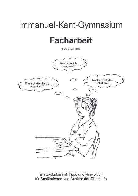 Leitfaden Facharbeit Ikg Immanuel Kant Gymnasium