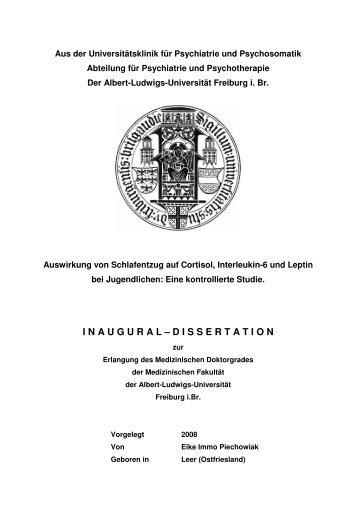 Dr. Arbeit Eike Piechowiak 1 - FreiDok - Albert-Ludwigs-Universität ...