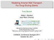 Modeling Arterial Wall Transport For Drug-Eluting ... - COMSOL.com