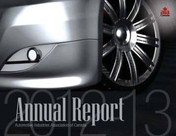 2012-2013 AIA Canada Annual Report - Automotive Industries ...