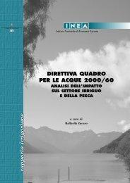 direttiva quadro per le acque 2000/60 analisi dell'impatto sul settore ...