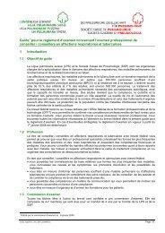 Guide du brevet fédéral - Ligue pulmonaire