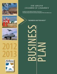 Business Plan - Abilene Chamber of Commerce