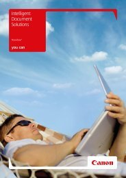 Intelligent Document Solutions - Brochures - Canon Europe