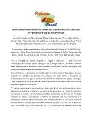 monitoramento de pragas e doenças do mamoeiro e seu impacto na ...