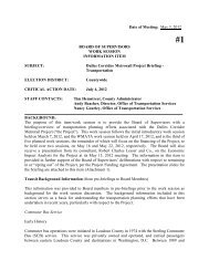 May 3, 2012 BOARD OF SUPERVISORS WORK ... - Loudoun County