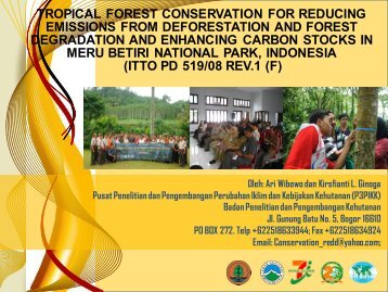 Tropical Forest Conservation for REDD and Carbon Stocks in Meru ...