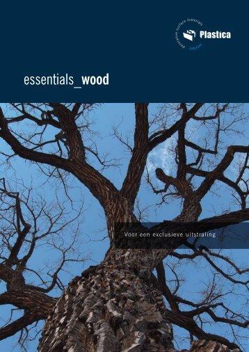 Plastica Brochure Essentials Wood - Hout Import Reuver