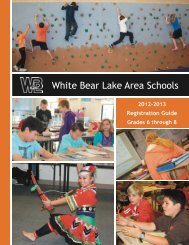 2012-13 Middle School Registration Guide - White Bear Lake Area ...
