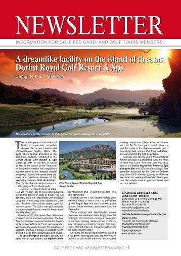 A dreamlike facility on the island of dreams Dorint ... - Golf Fee Card