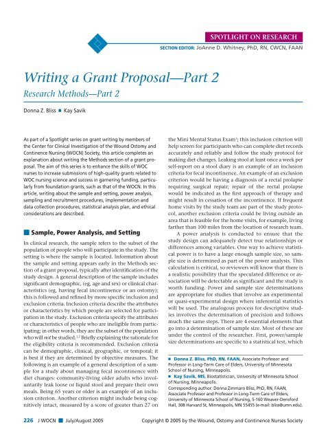 writing a grant proposal for nursing