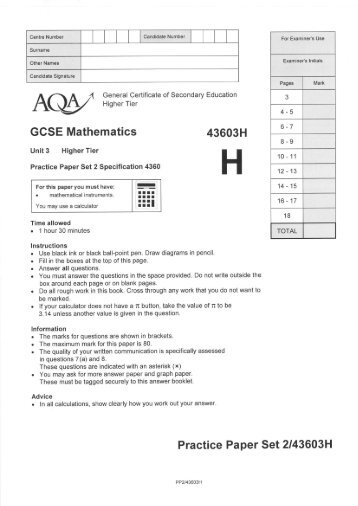 Edexcel maths unit 3 specimen terminal paper | Essay Sample