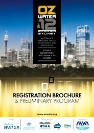 REGISTRATION BROCHURE - Australian Water Association