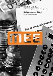 Belastingjaar 2009 - MEE Zuidoost Brabant