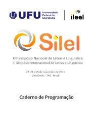 Caderno de Programação - Instituto de Letras e Lingüística ...