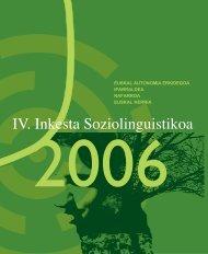 IV. Inkesta Soziolinguistikoa. 2006 - Euskara - Euskadi.net