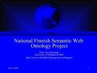 Semantic Web -- Älykäs Internet - SeCo
