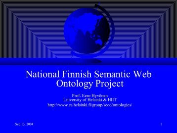 Semantic Web -- Älykäs Internet - SeCo