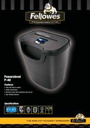 Fellowes P-40 Brochure.pdf - TradeShredders.com