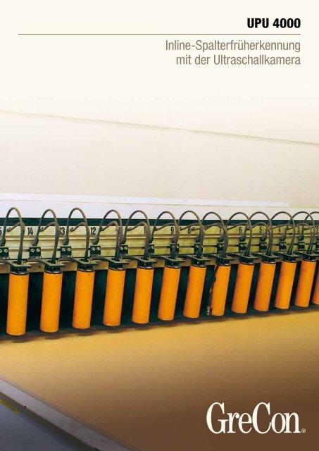 Inline-Spalterfrüherkennung mit der Ultraschallkamera - GreCon