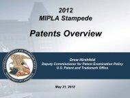 USPTO Deputy Commissioner for Patent Examination Policy - MIPLA