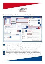 Privatsphäre-Einstellungen in Sozialen Netzwerken am Beispiel von ...