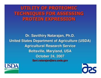 utility of proteomic techniques for assessing protein expression