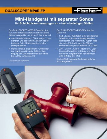 MP0R-FP Mini-Handgerät mit separater Sonde für ...