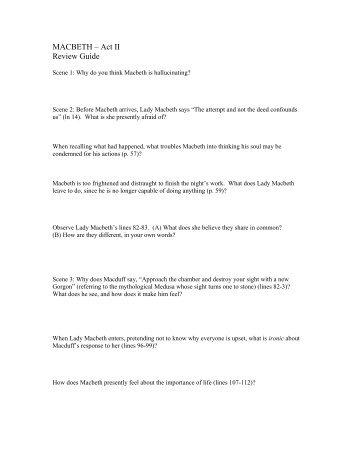 Macbeth Act 3 Selection Test Answers Macbeth Act 3