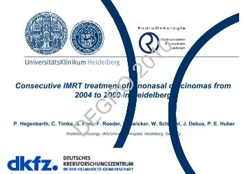 Consecutive IMRT treatment of sinonasal carcinomas ... - Wcenter.de