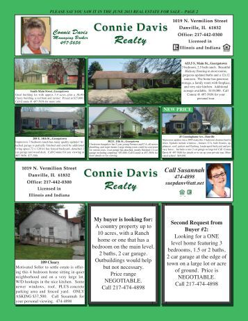 Connie Davis Realty Connie Davis Realty - Youngspublishing.com
