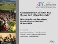 Wissensökonomie im ländlichen Raum Chancen durch - vlp-aspan