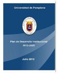 Plan de Desarrollo Institucional 2012 - 2020 - Universidad de ...