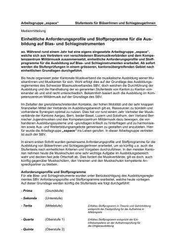 Arbeitsgruppe espace - Luzerner Kantonal-Blasmusikverband
