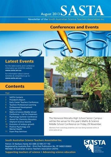 SASTA Newsletter_August 13 (3.9 mb, PDF) - South Australian ...