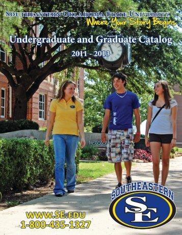 2011-2013 Academic-Catalog - Southeastern Oklahoma State ...