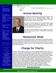 Restaurant Week Change for Charity Annual ... - Coliseum Central