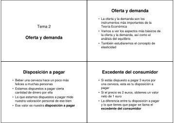 Oferta y demanda Oferta y demanda Disposición a pagar Excedente ...