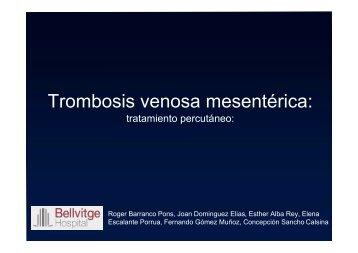 Trombosis venosa mesentérica: