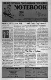 September 1992 - San Francisco Police Officers Association