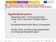 "MSc ""Renewable Energy in Central & Eastern Europe"" - Regional ..."