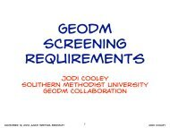 Jodi Cley Southern methodist University GEODM Coaboration