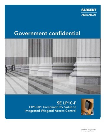 SARGENT SE LP10-F FIPS Sell Sheet.pdf - Access Control ...