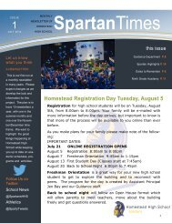 Homestead July 23 Newsletter 2014