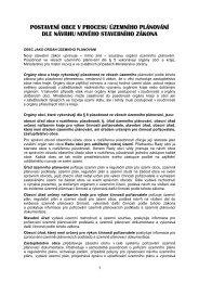 postavení obce v procesu územního plánování dle návrhu nového ...