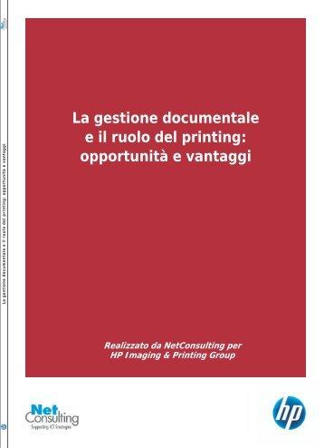 La gestione documentale e il ruolo del printing ... - ZeroUno