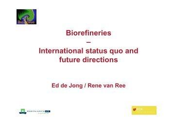 Current status on Biorefineries IEA42 150307.pdf - Biorefinery