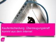 Kaufentscheidung: Überzeugungskraft kommt aus dem Internet